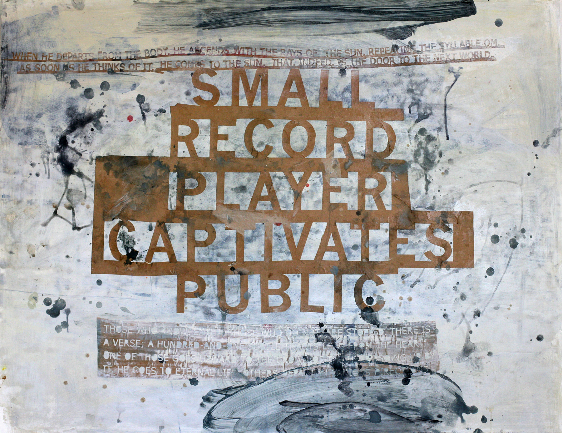 Small Record Player 02, acrylic and paste on paper