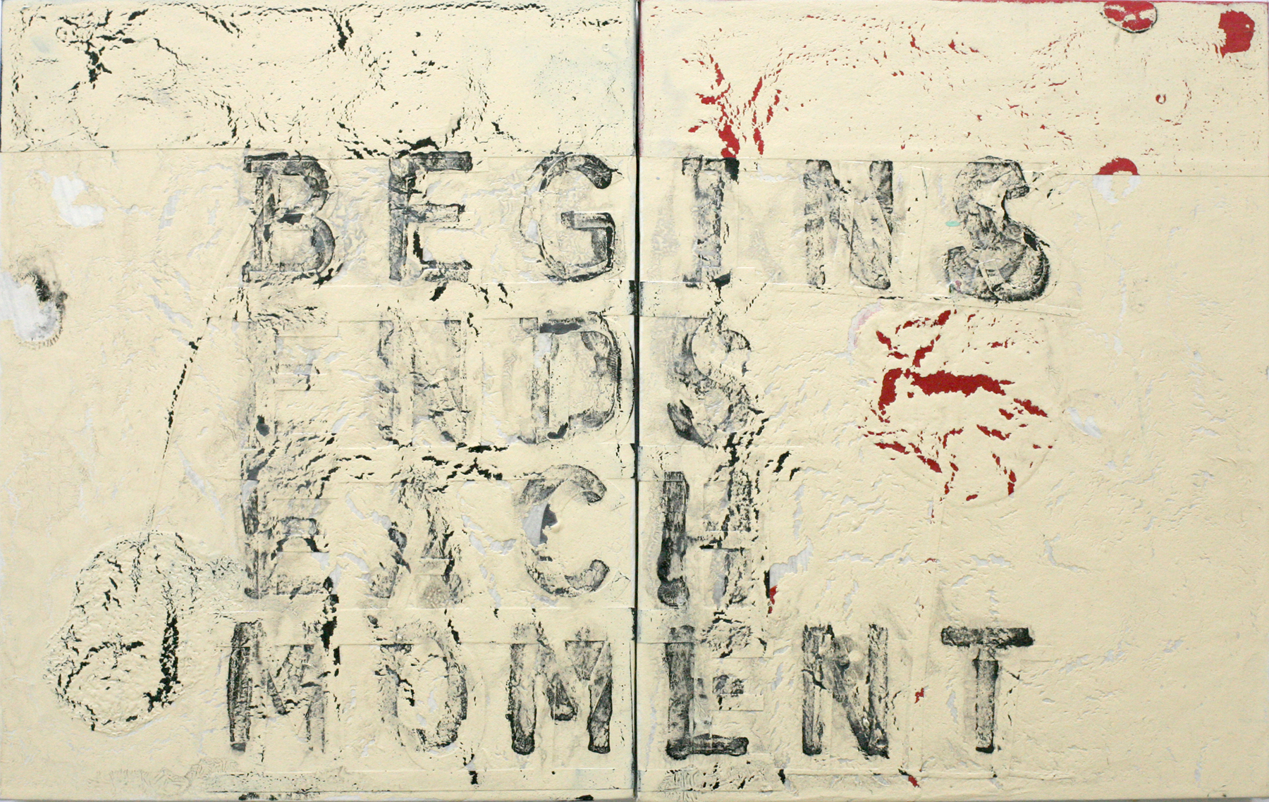 Begins Ends Each Moment, acrylic on wood, diptych (private collection)