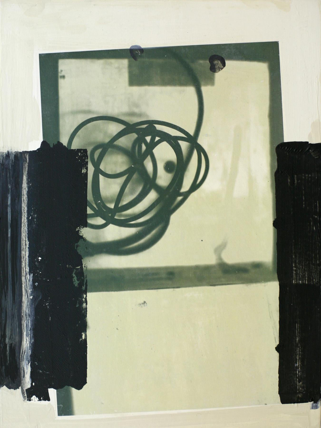 """Farnsworth, acrylic with transfer on wood, 16"""" x 12"""""""