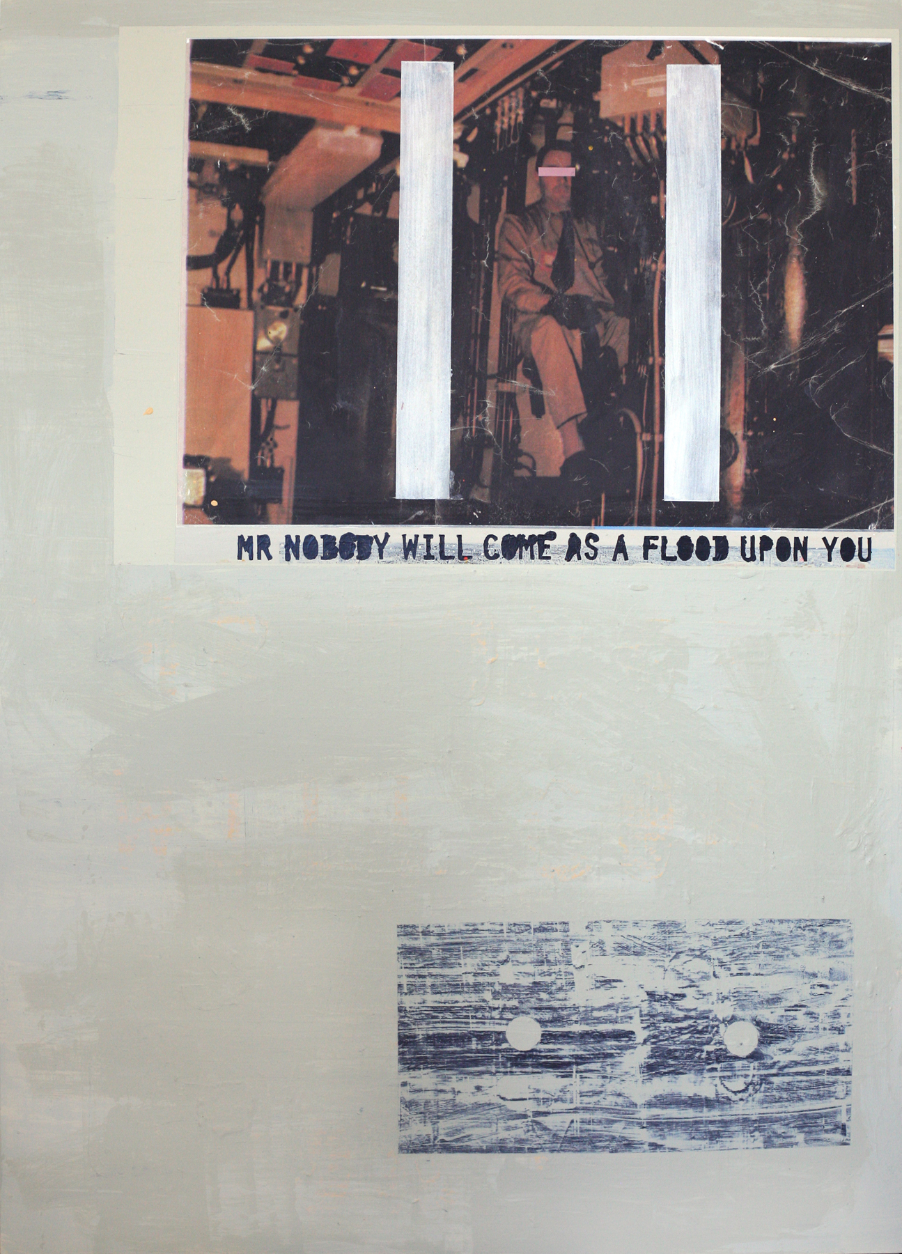 "Mr. Nobody, digital print + acrylic, 48"" x 34"""