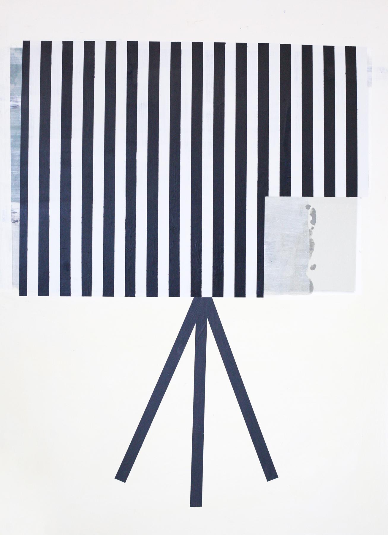 """The Photographer, digital print + acrylic, 48"""" x 34"""""""