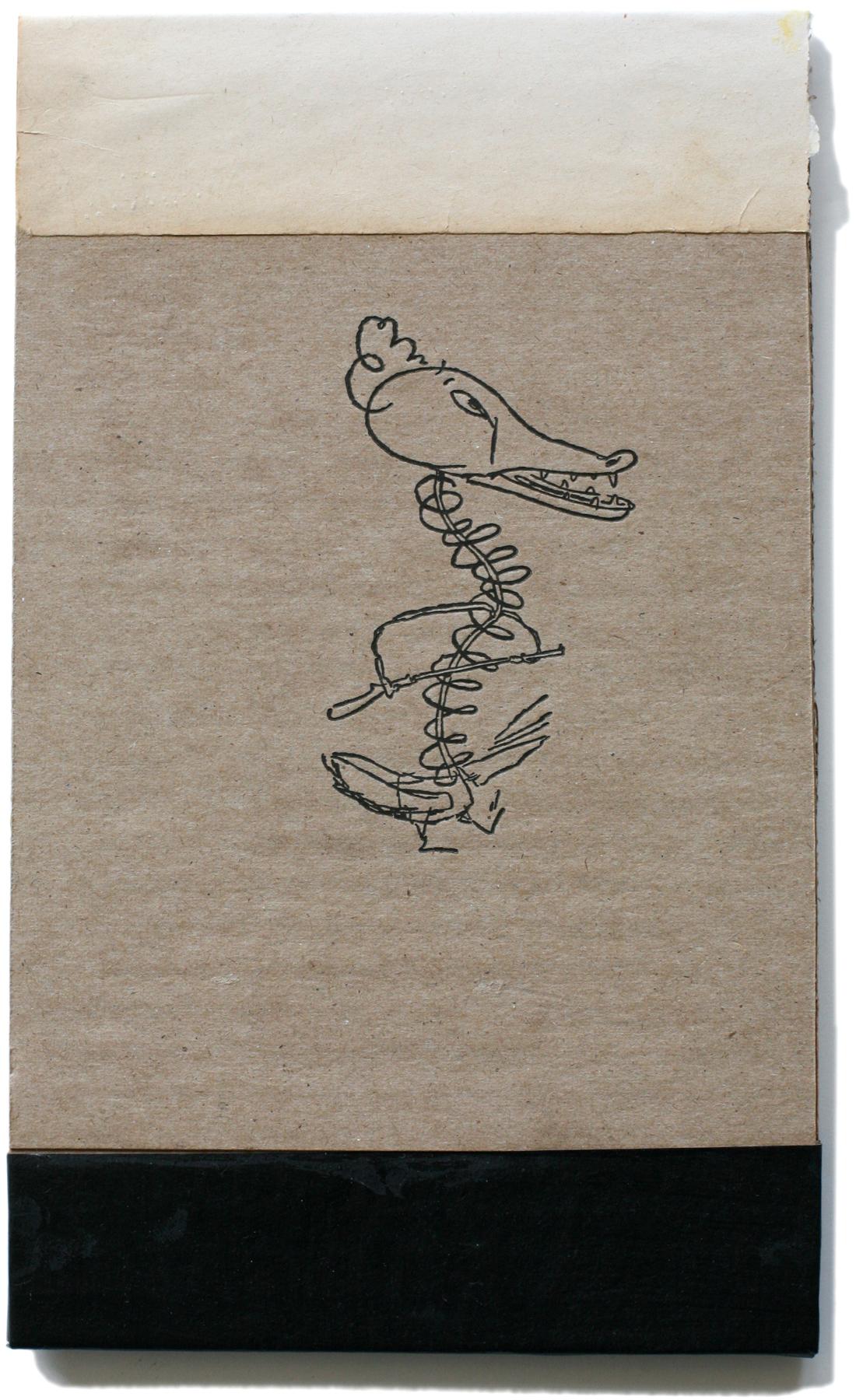"""Ducks with Guns, 10"""" x 6"""", 2008-2010"""