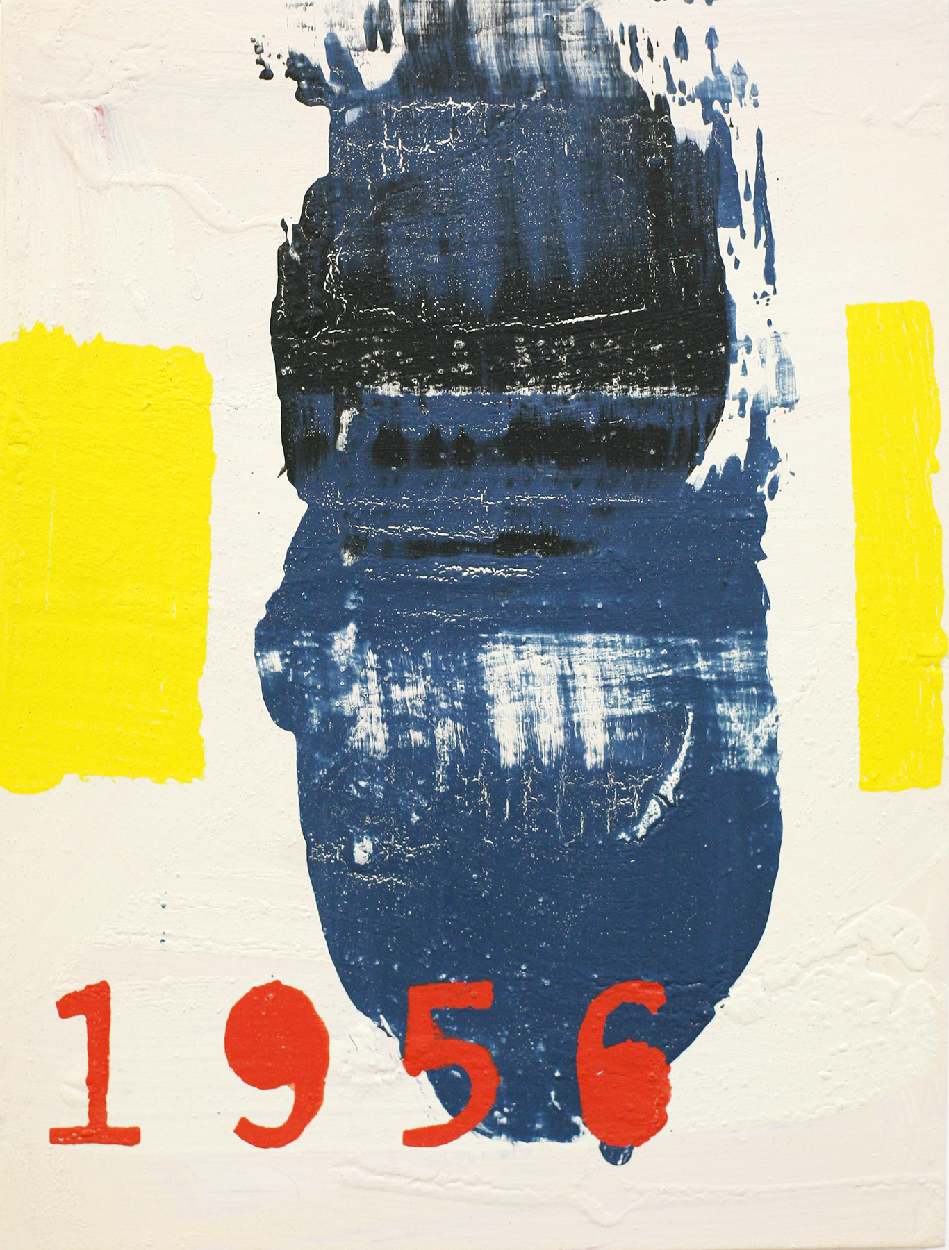 1956, acrylic on board