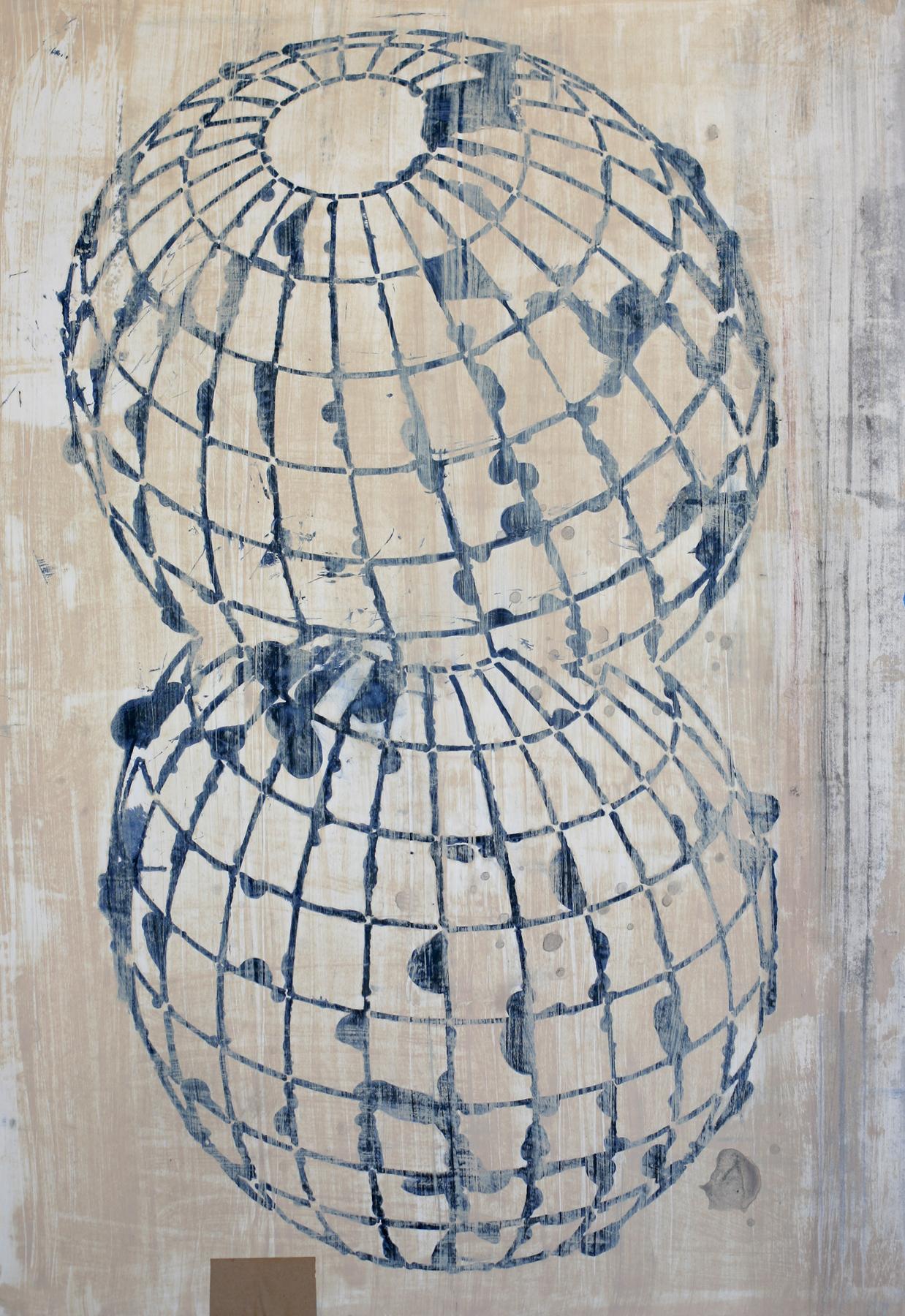 Blue/Black Conjoined Globes