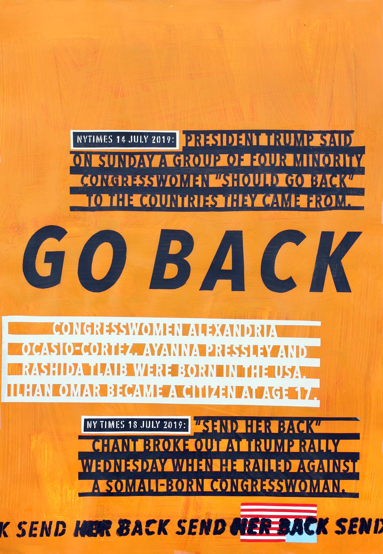 Trump says: Go Back!
