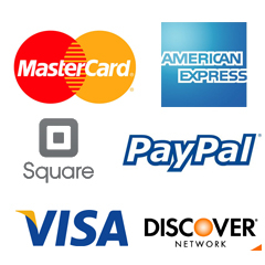 We take all major credit cards and cash    Secure the date by paying the non-refundable deposit,    $50 booking fee for parties and events (applied to the cost of the party.    Balance to be paid the day of the event.