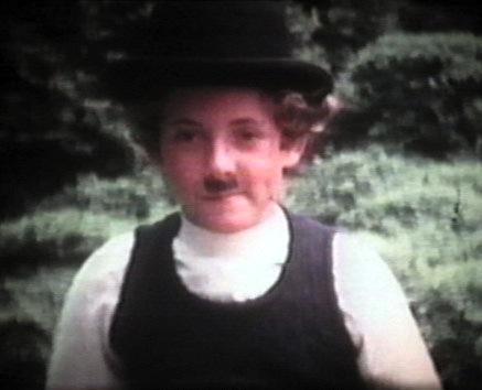 As Charlie Chaplin in Super 8 film  (1974)