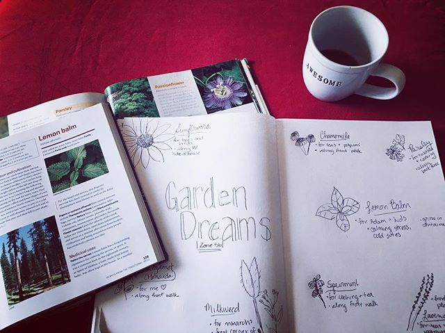I really love the planning part of #gardening. 🌸 🌺 🌿 #herbs #herbalist #dreams
