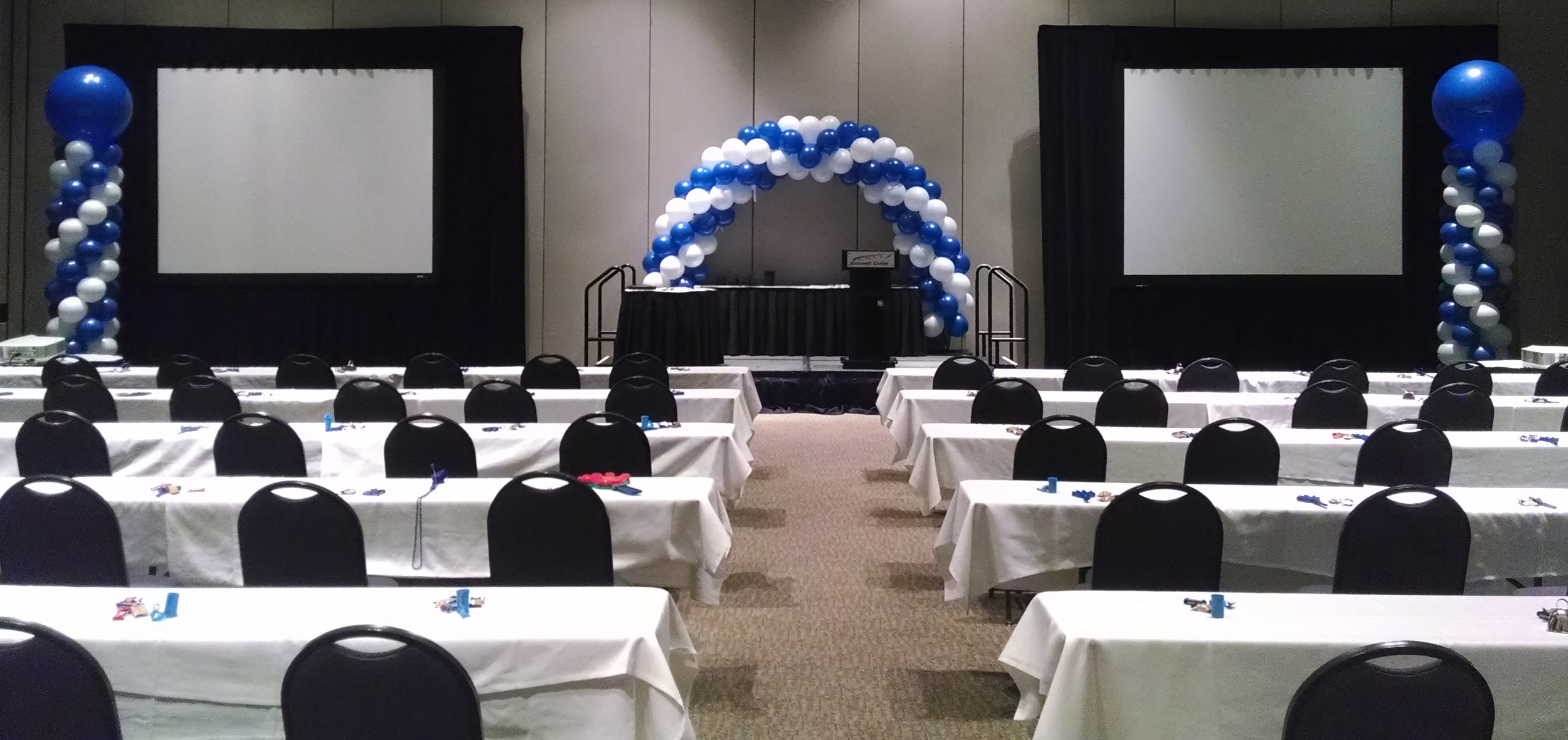 Balloon corporate decor at the Gwinnett Center