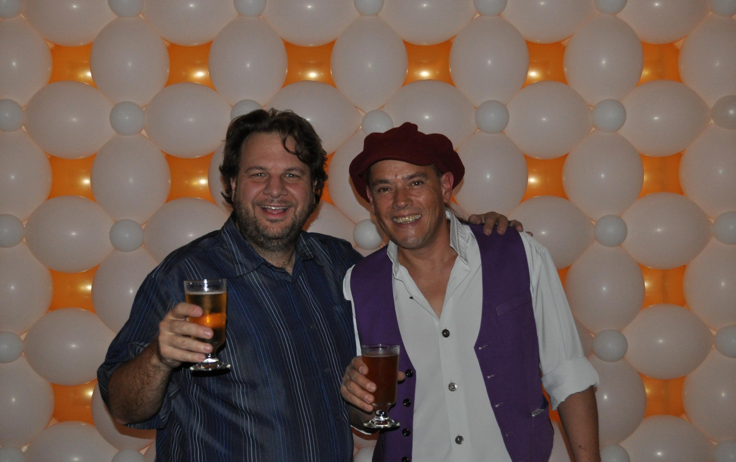 Balloon artist Bidou Charlot and myself celebrating at Ballooniversity 2012.