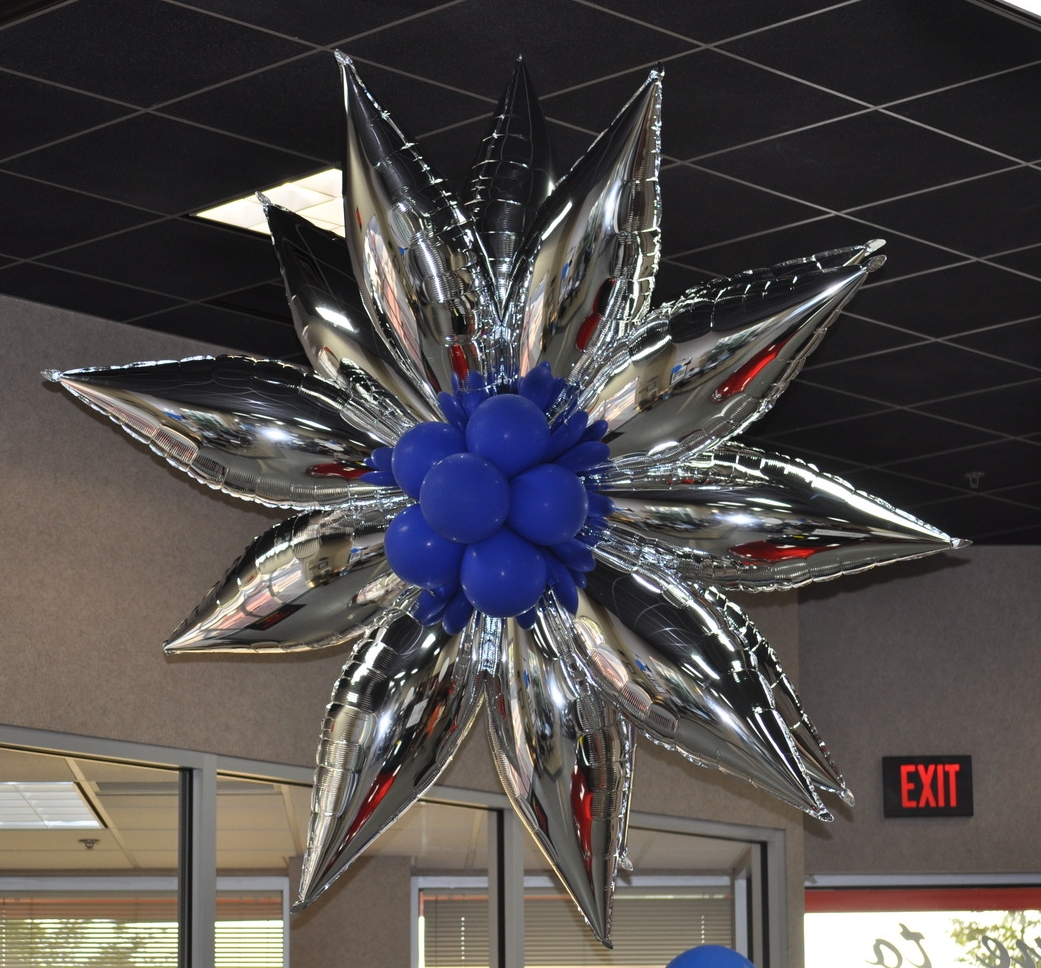 Showroom balloon decor