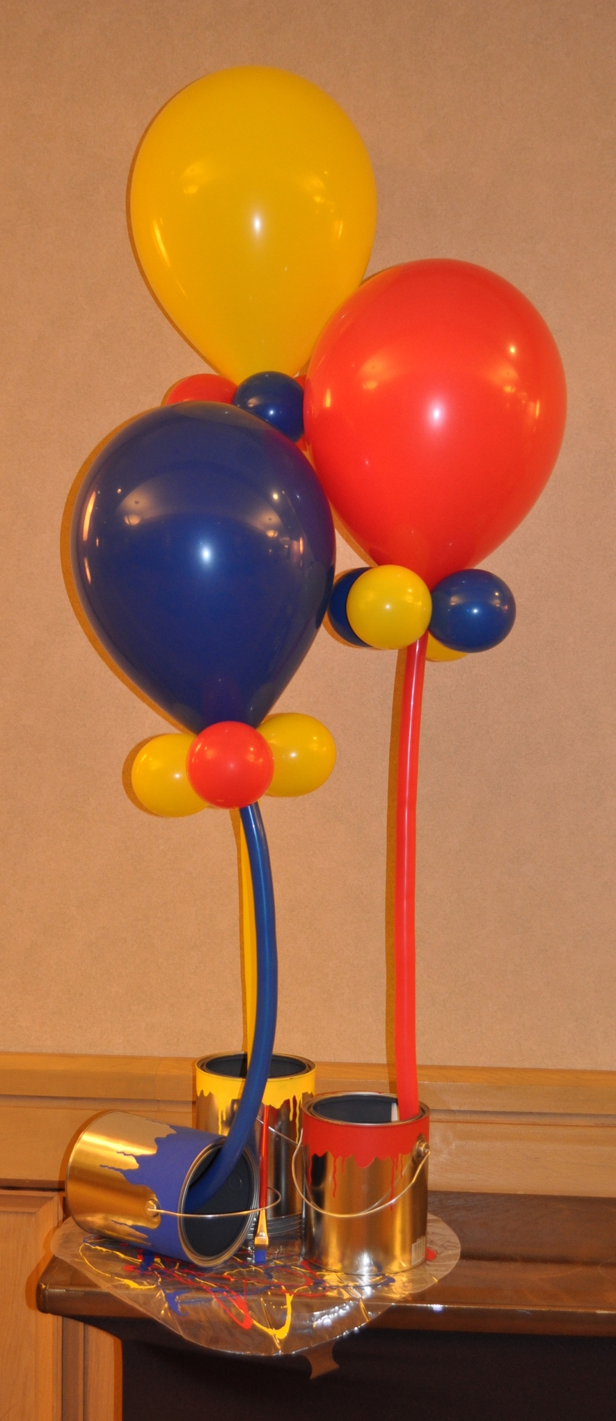 Balloon display celebrating an art event