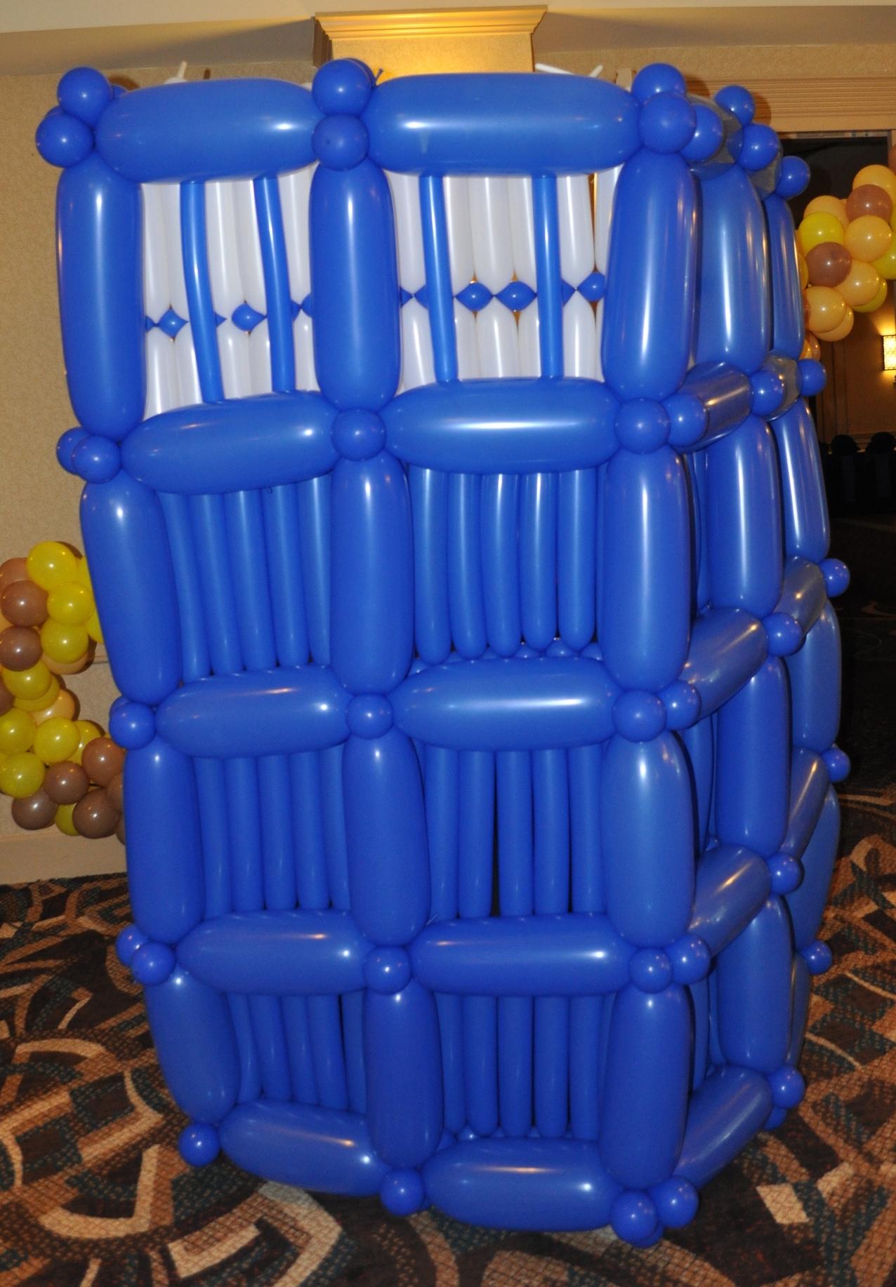 Doctor Who Bar Mitzvah balloon Tardis