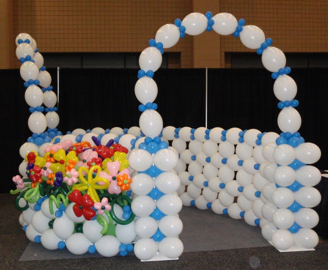 Balloon flower garden path