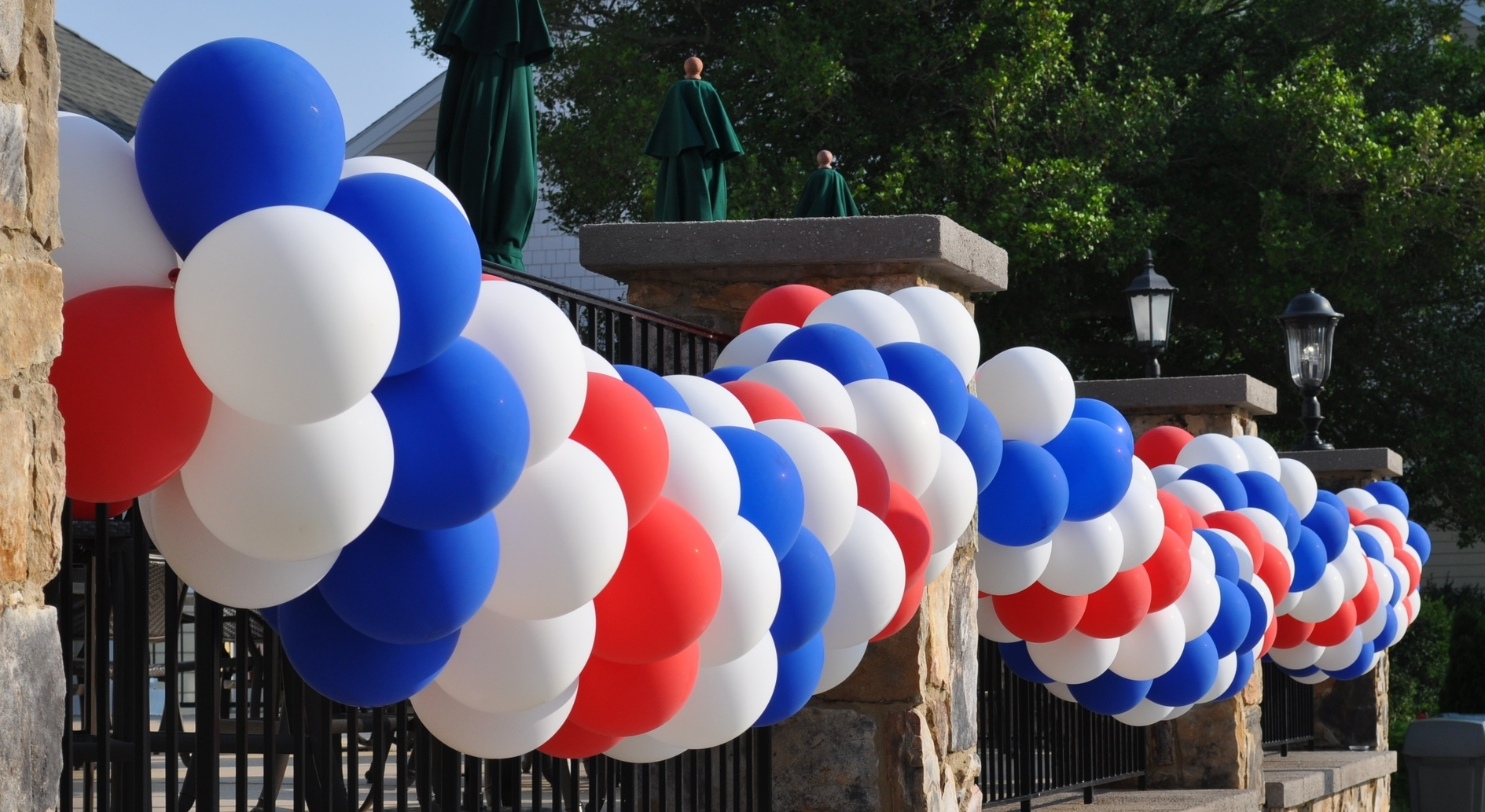 July 4th balloon swags