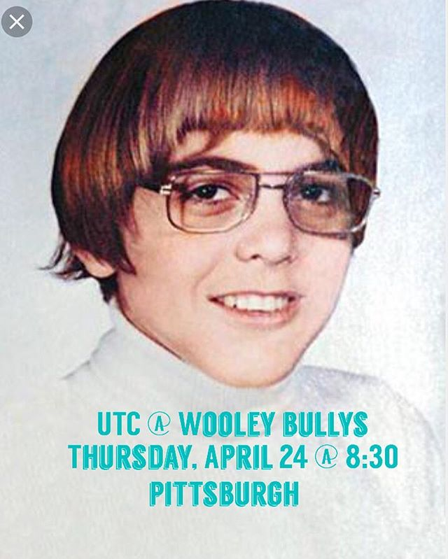 George Clooney as a child will be at our gig tonight at #wooleybullys with @fordizzierheights . Pittsburgh we'll see you there