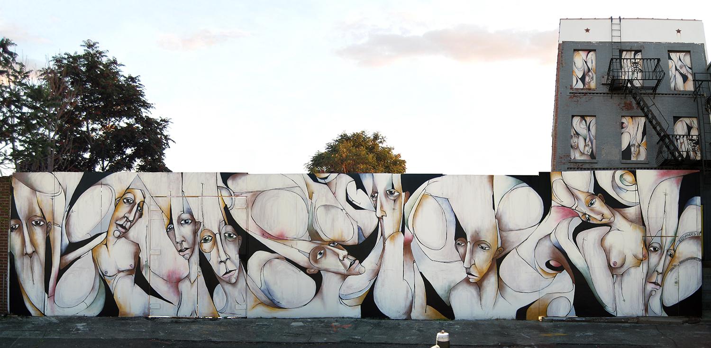 DEGRAW STREET MURAL  | BROOKLYN, NY | SPRAY PAINT & LATEX ACRYLIC | 12' X 60'