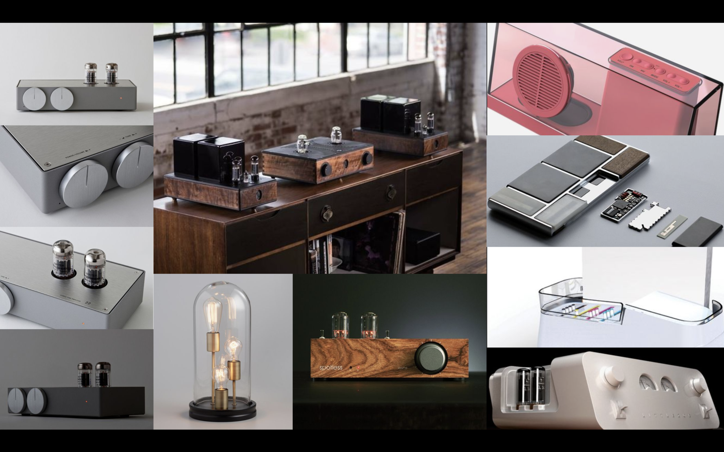 We created a mood board to convey the aesthetic we wanted our printer to have that represented a durable, premium product.