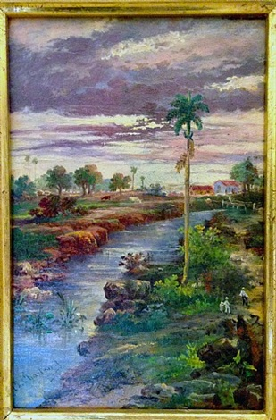 Untitled    Medium:Oil on wood panel  Size:5.75 x 8.75 in.(14.6 x 22.2 cm.)