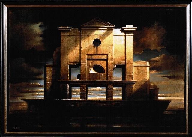 Paesaggio con barca n.2 (Landscape with boat n.2),2006     Medium:Acrylic on canvas  Size: 40 x 27.5 inches(101.6 x 69.8 cm.)