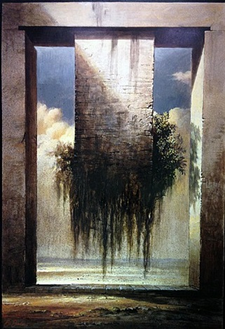 Porta d'Oriente (The Eastern gate),1994     Medium: Acrylic on faesite (hardboard)  Size: 19.5 x 28 inches(49.5 x 71.1 cm.)