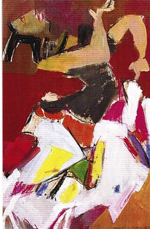 Mexican dancer n.3, 1967    Medium: Acrylic, tempera and pastels on paper  Size: 34 x 24 in. (86.4 x 61 cm.)  Markings: Signed and dated on the lower right side