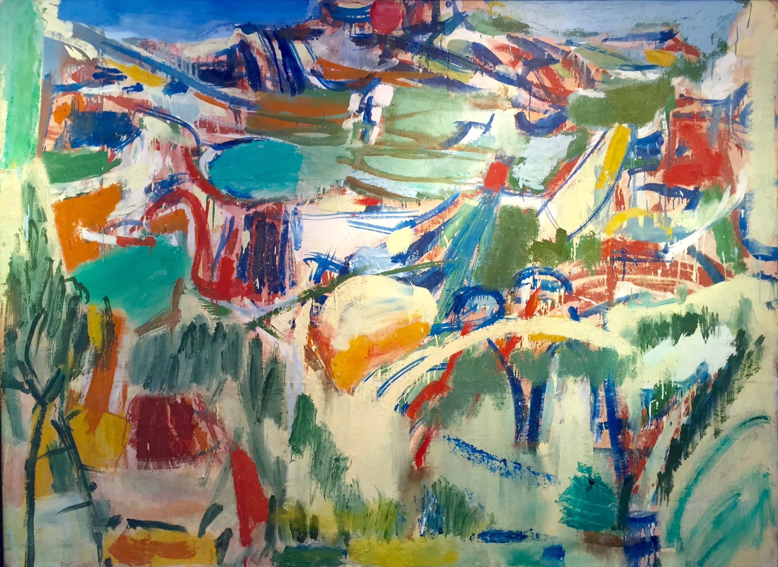 Mountain scene, ca. 1950–1959    Medium: Paintings, Oil on canvas   Size: 50 x 68 in. (127 x 172.7 cm.)