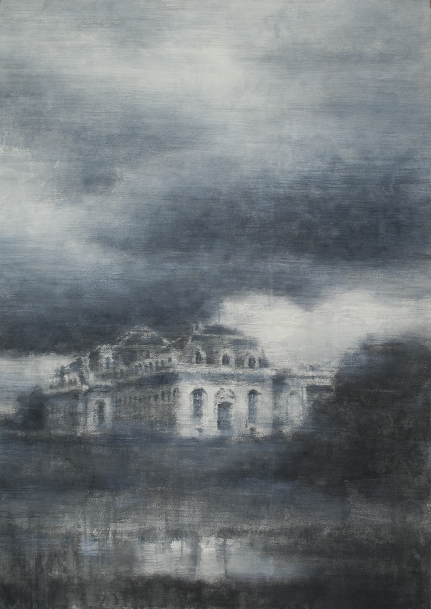 Chantilly Ecuries, 32x45 inches, (Private Collection)