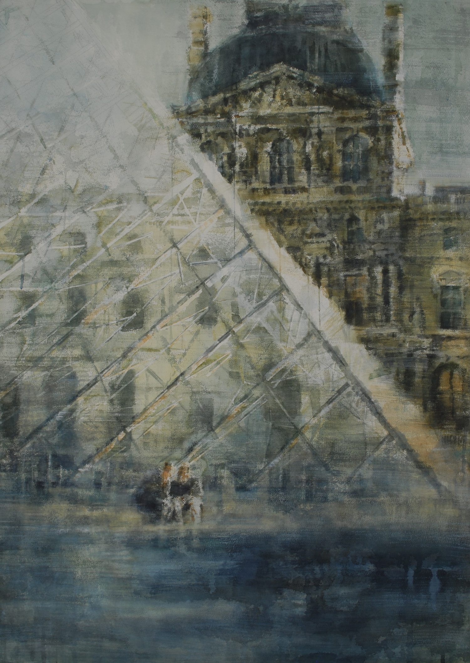 Pyramid in Paris, 29x41 inches