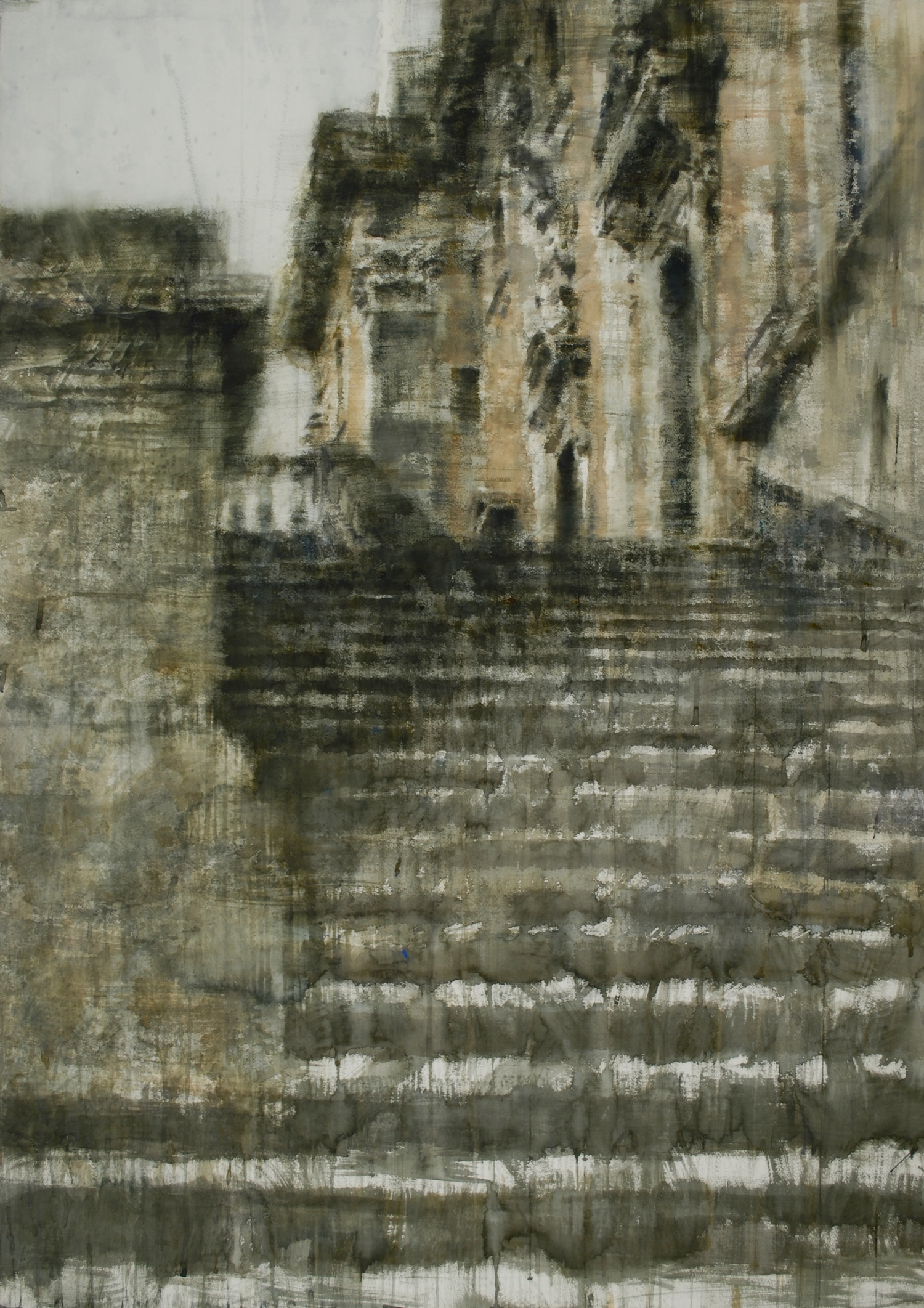 Steps of Rome V, 37x52 inches, (Private Collection)