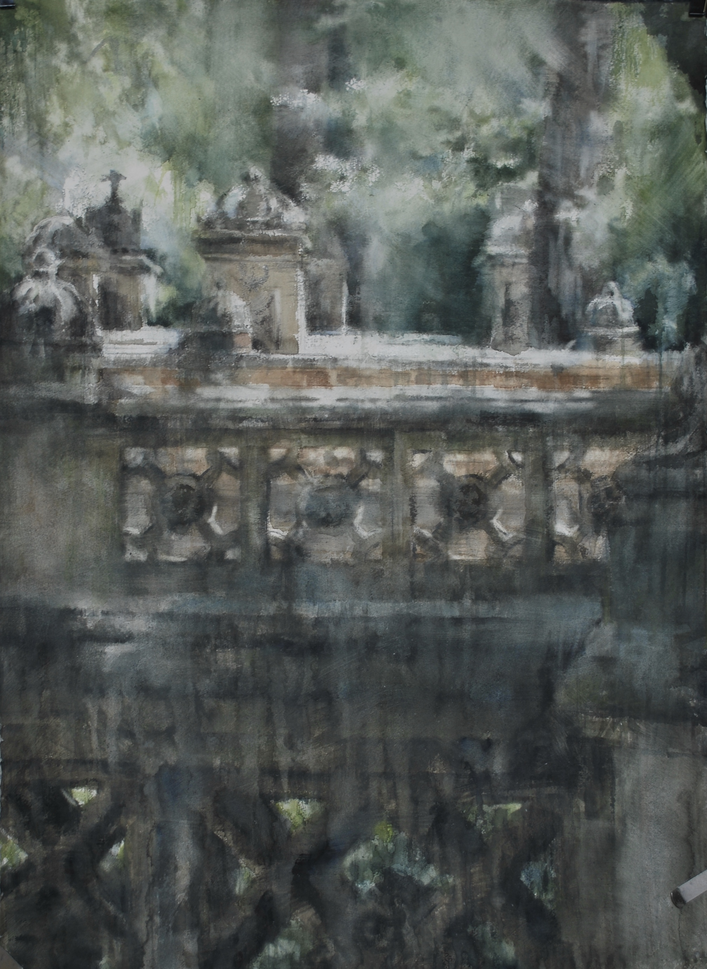 Bethesda Terrace, NYC, 25x40 inches, (Private Collection)