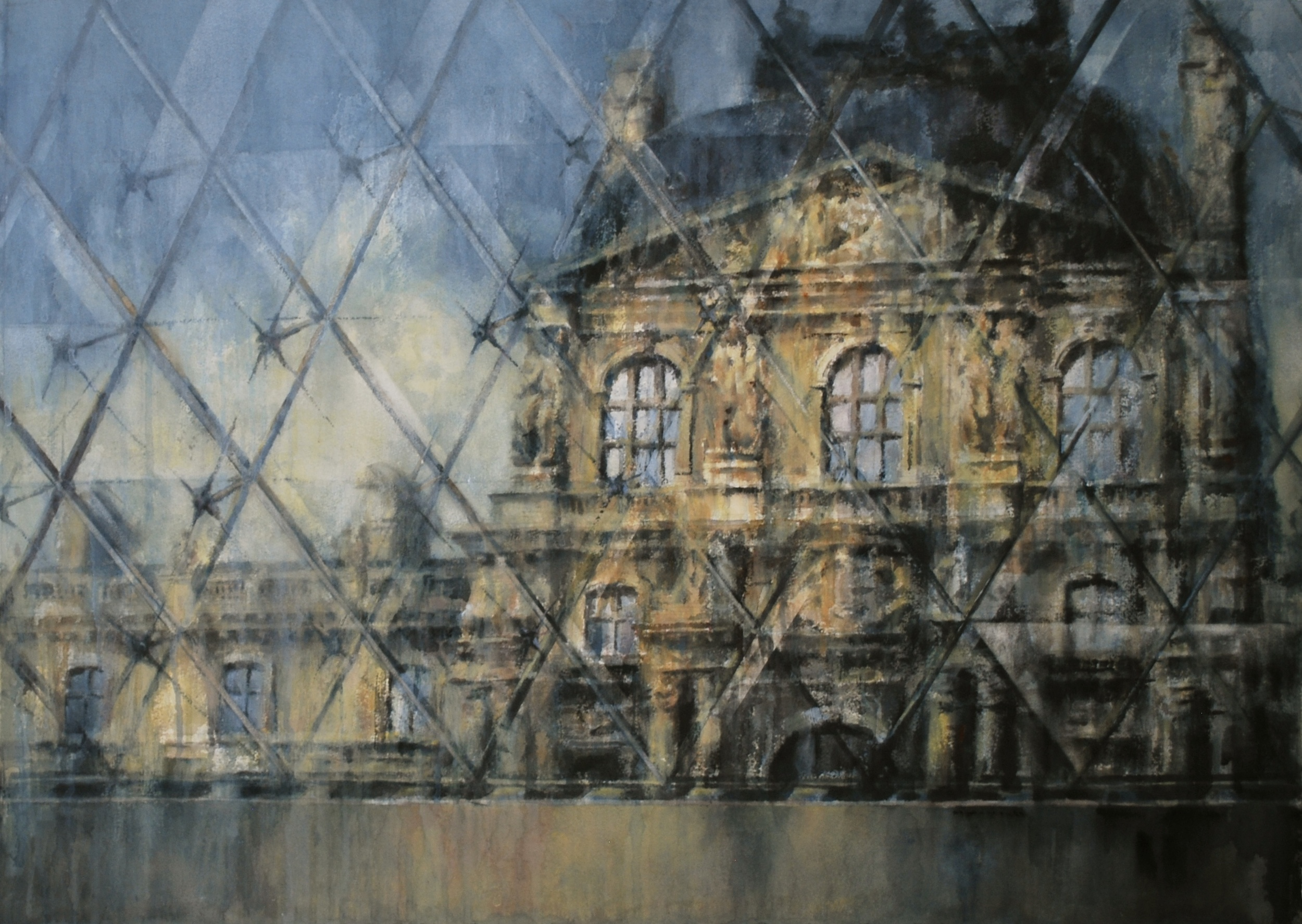 The Louvre, 29x41 inches