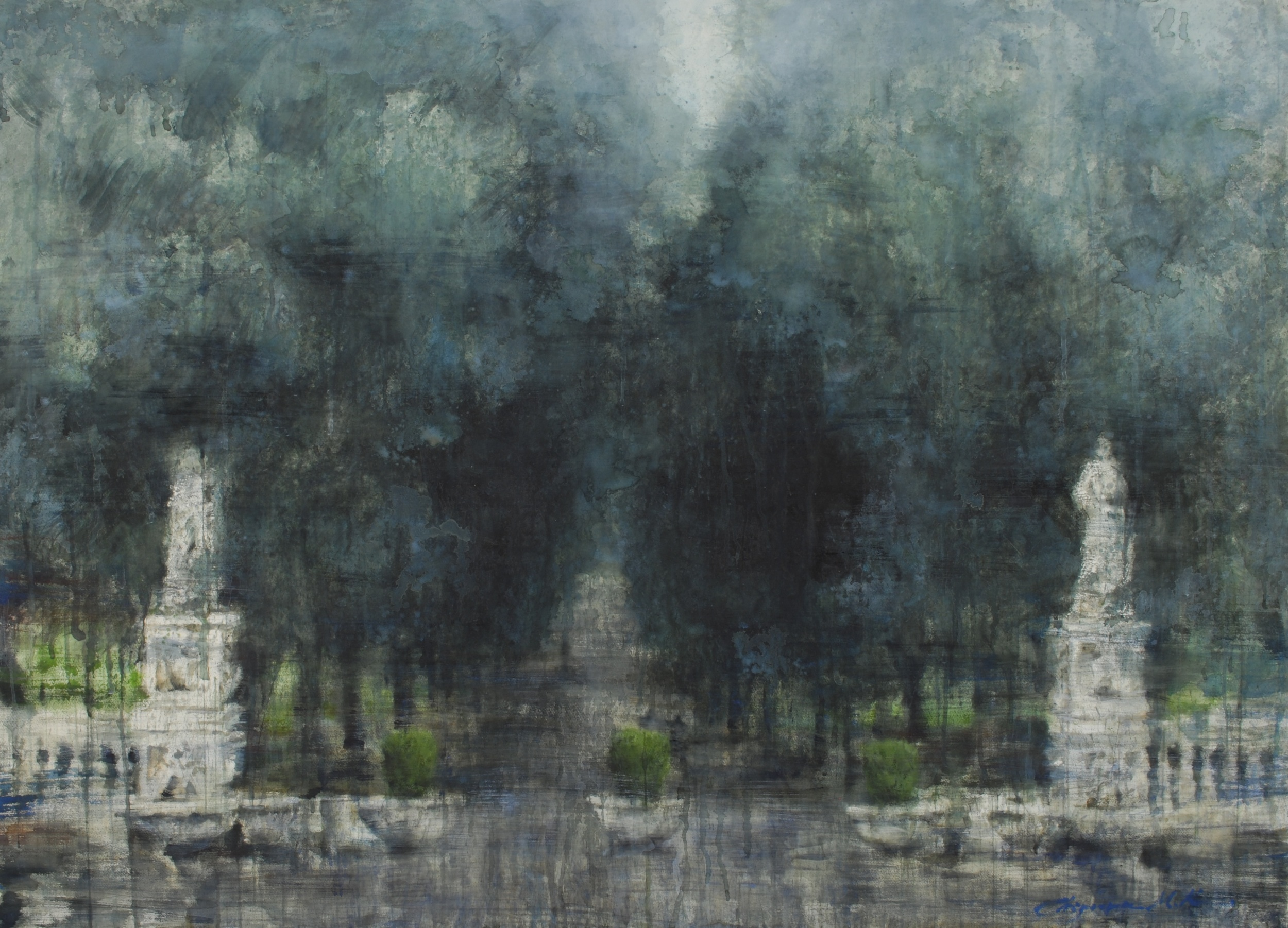 Villa Borghese, 45x62 inches, (Private Collection)