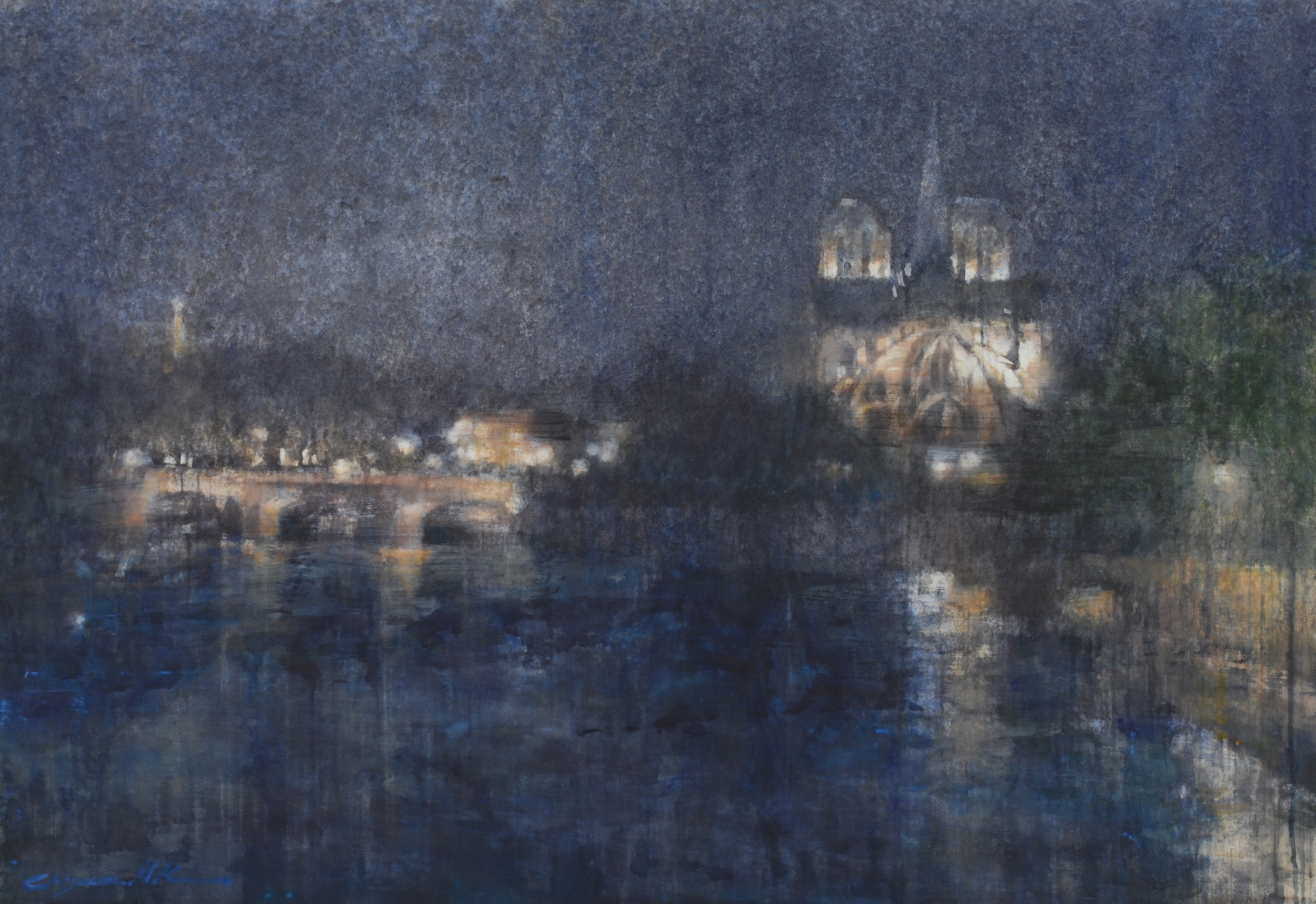 Paris, 45x64 inches, (Private Collection)