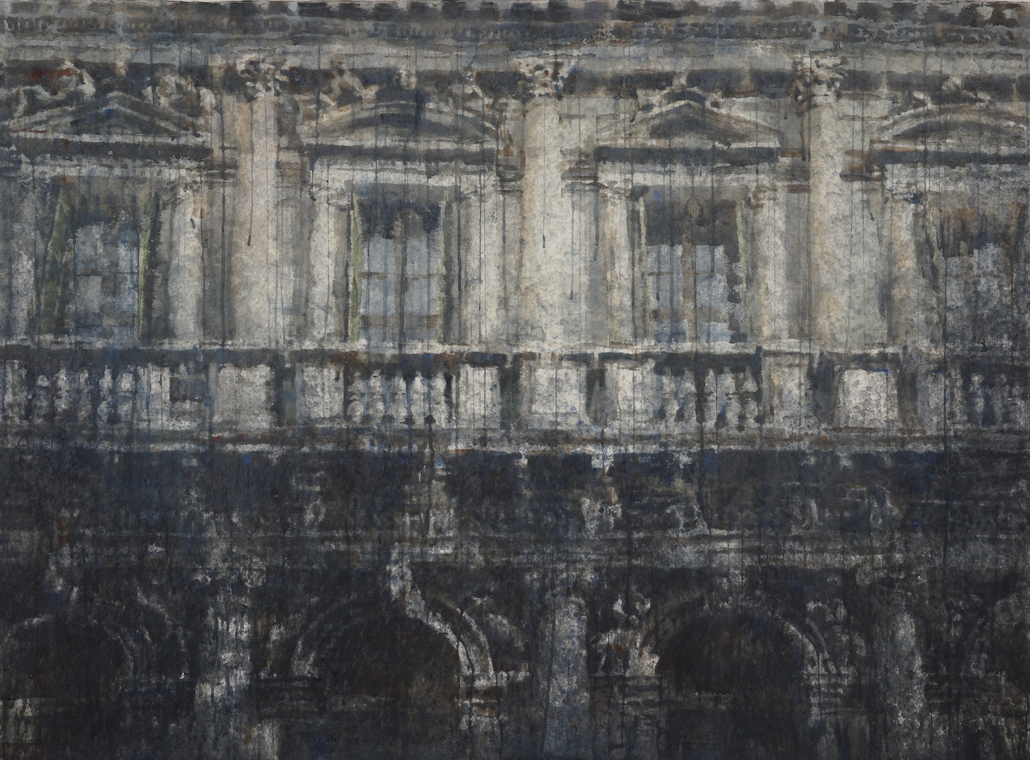 Windows of Venice I, 45x62 inches, (Private Collection)