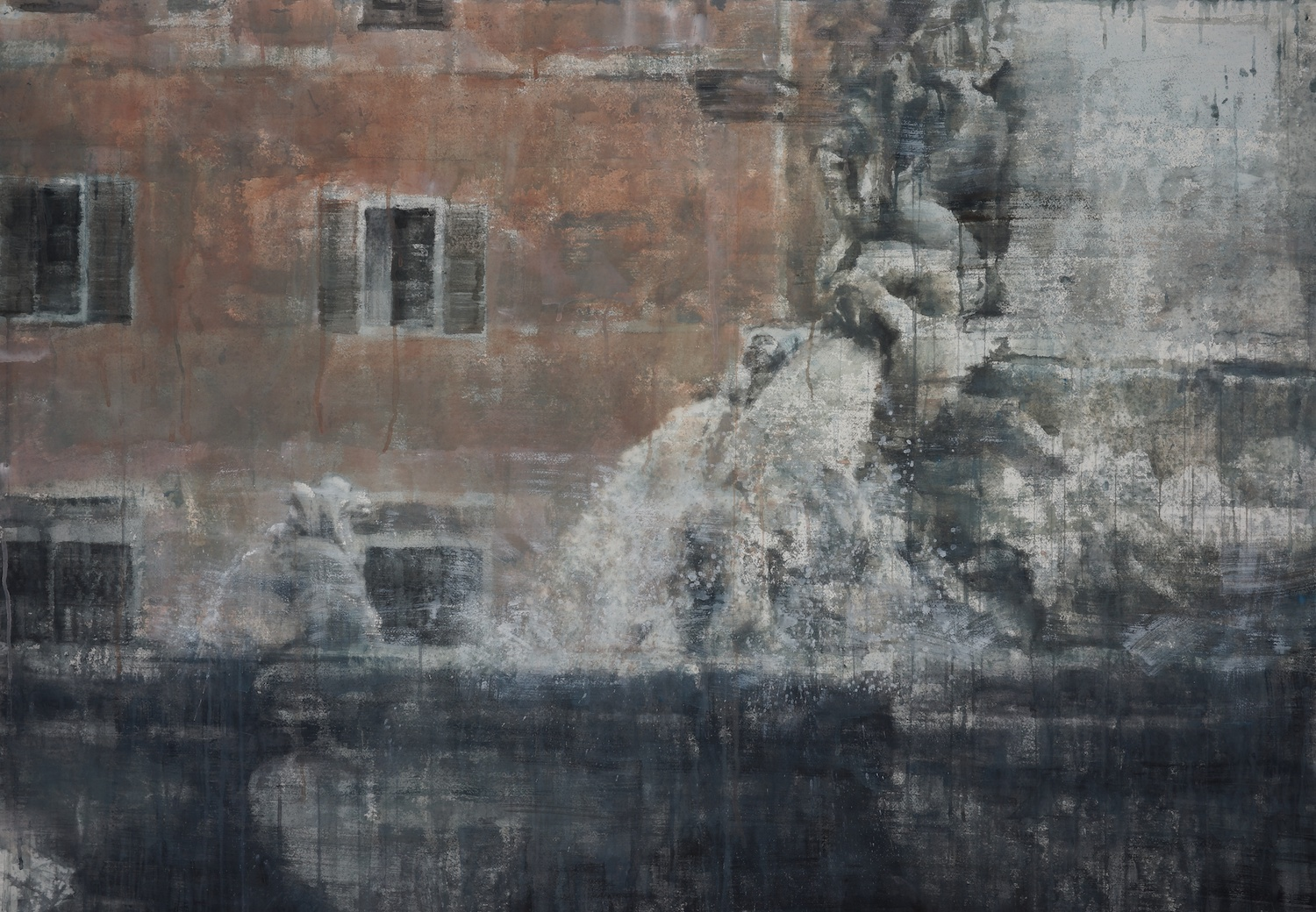 Fountain of Rome II, 45x64 inches