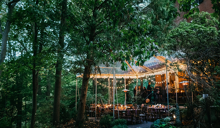 The patio at Faunbrook by Justin Johnson Photography