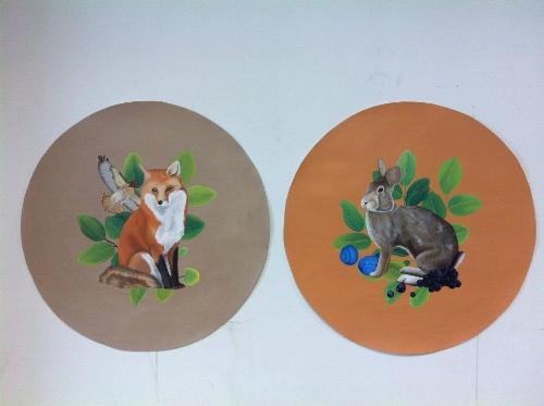 Acrylic paintings, 2011 - Freshman Year University