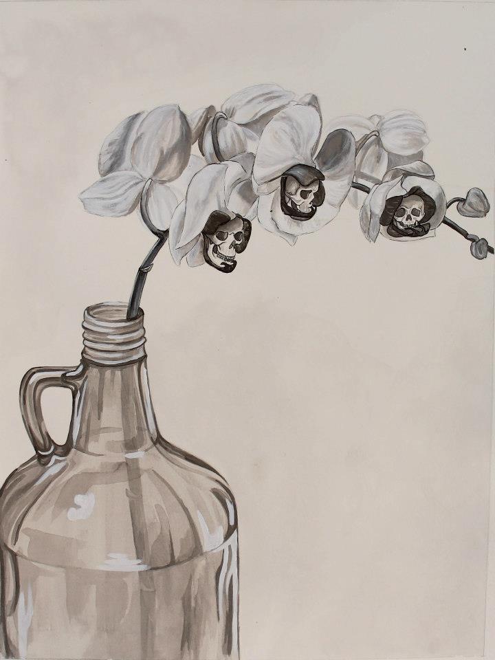 Ink wash drawing, 2013