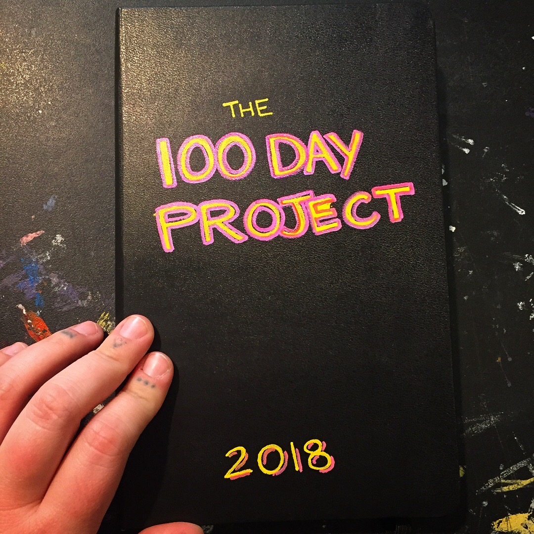 MaddieHuddleArt-The100DayProject-Cover.jpg