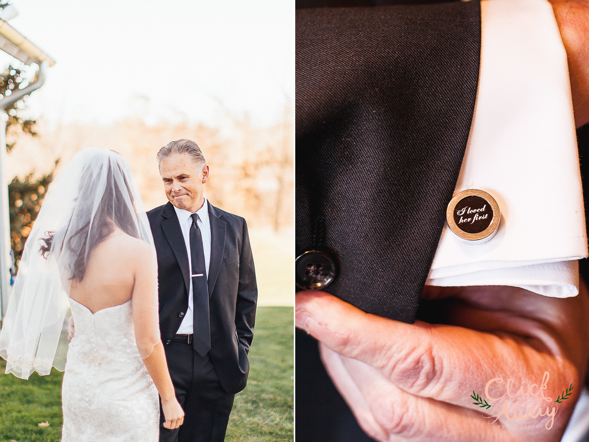 I loved you first cufflink and father's reaction to her daughter's dress