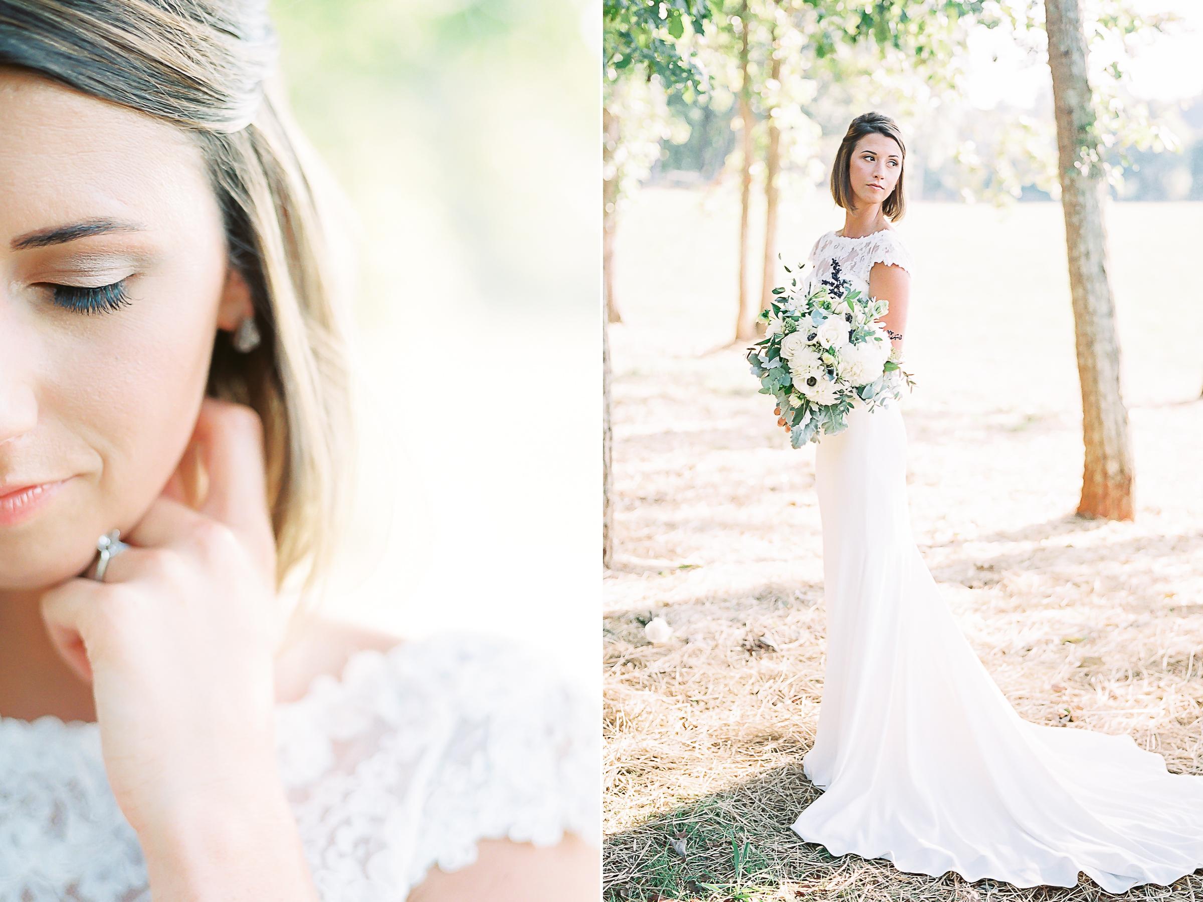 Collage bridal portraits