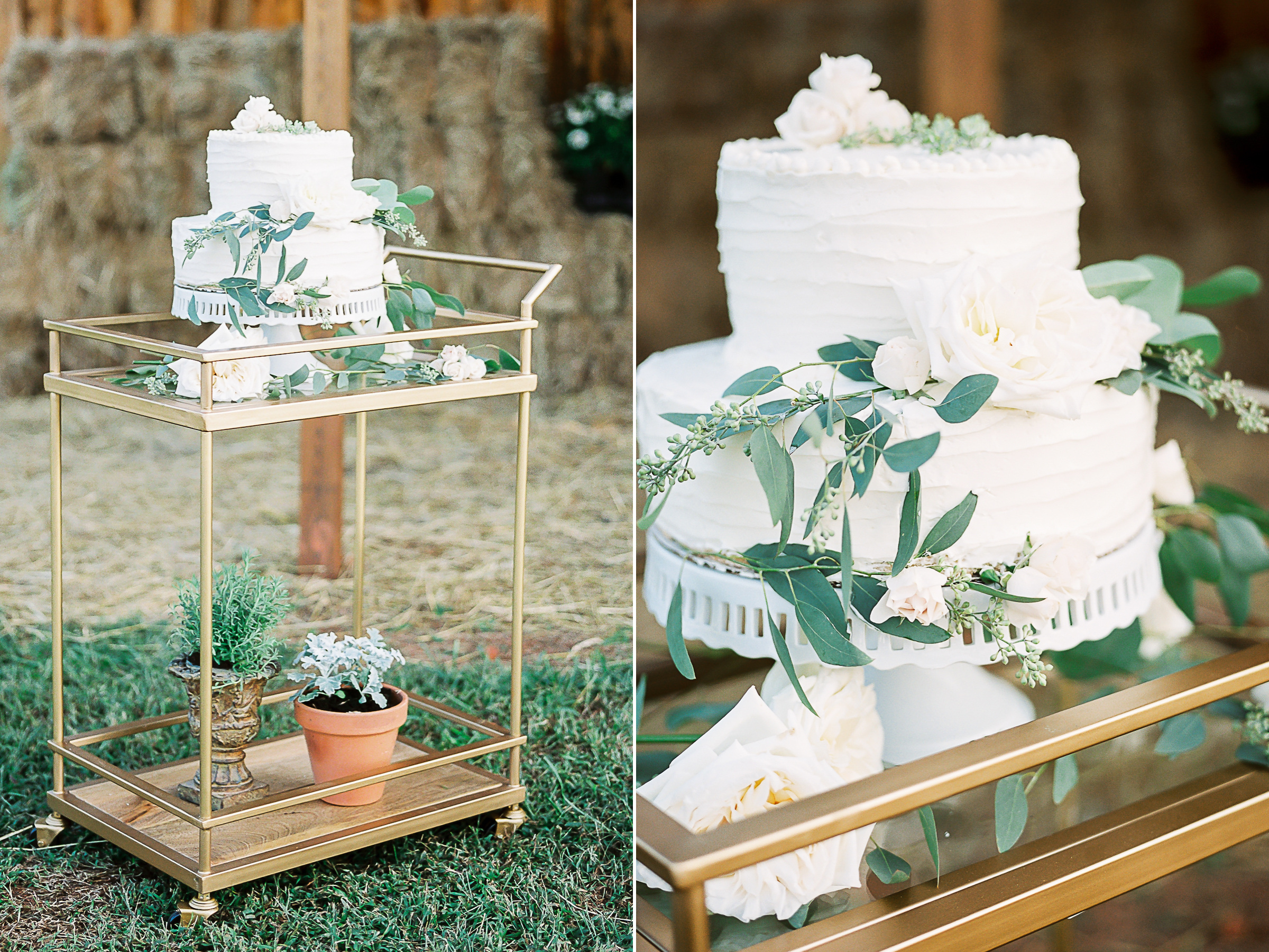 idea of wedding cake on gold stand