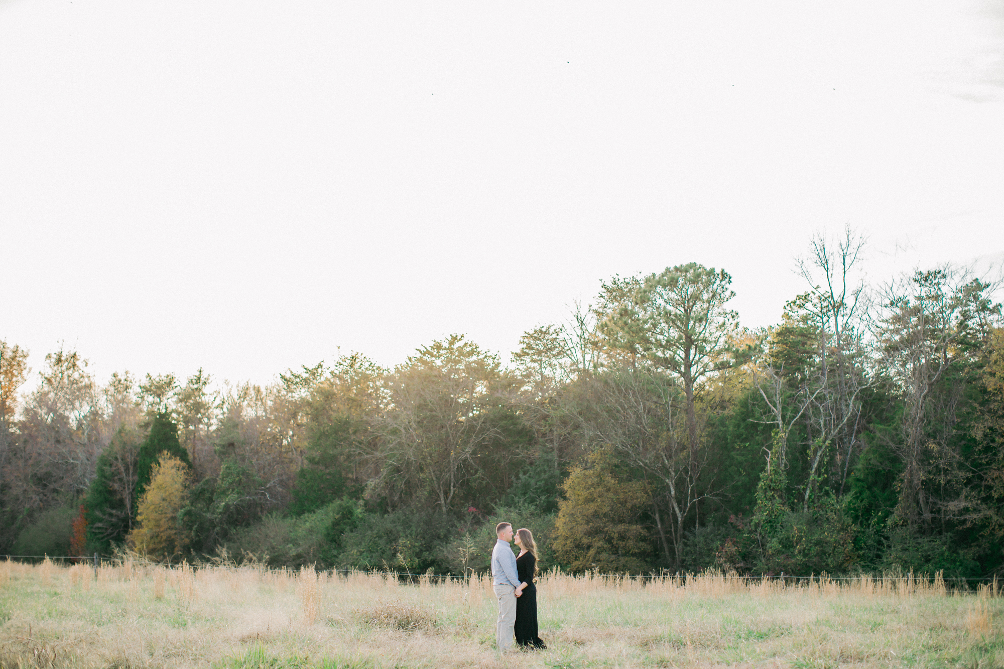 engagement session on open field
