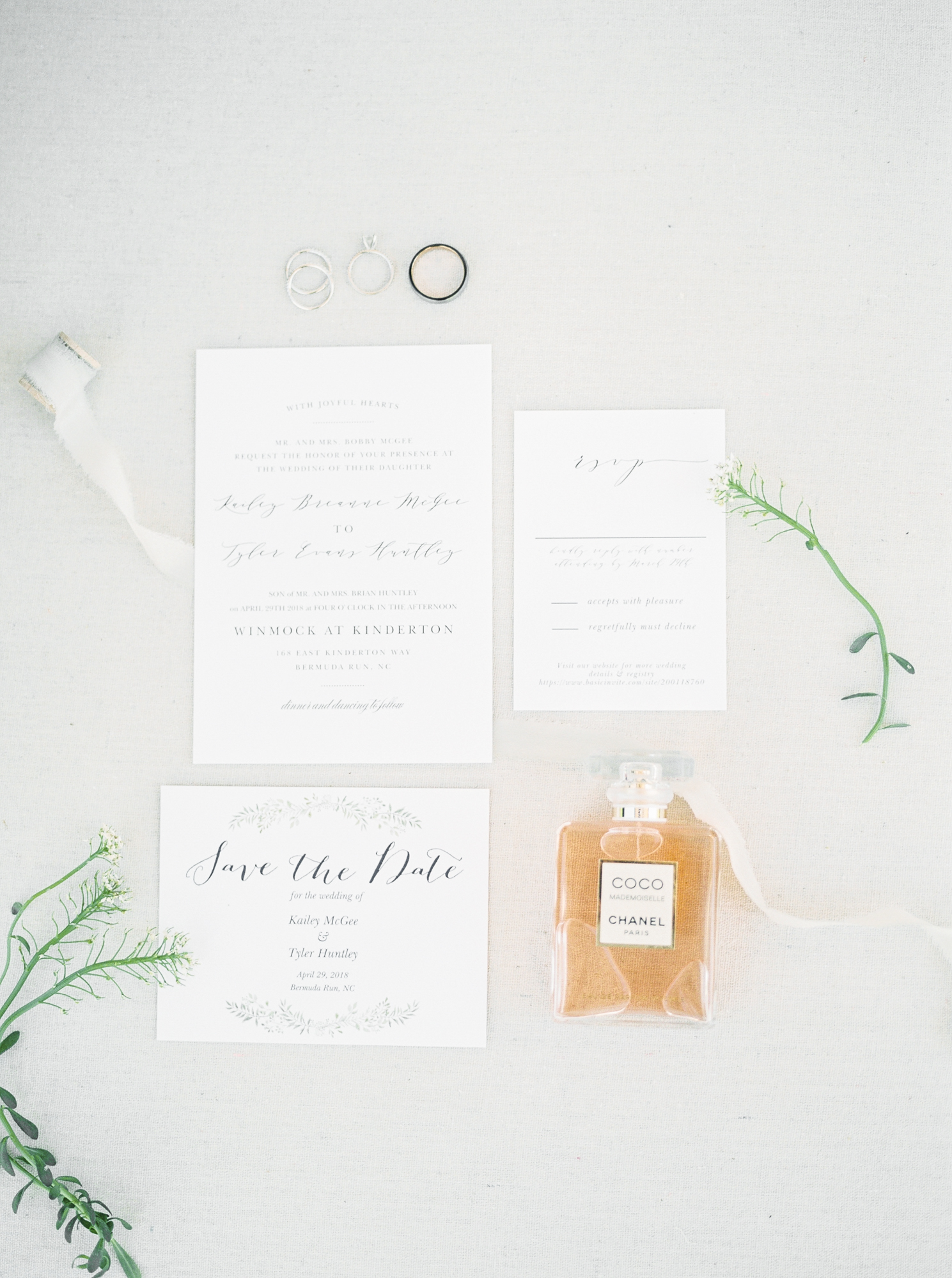 invitation suite summer wedding