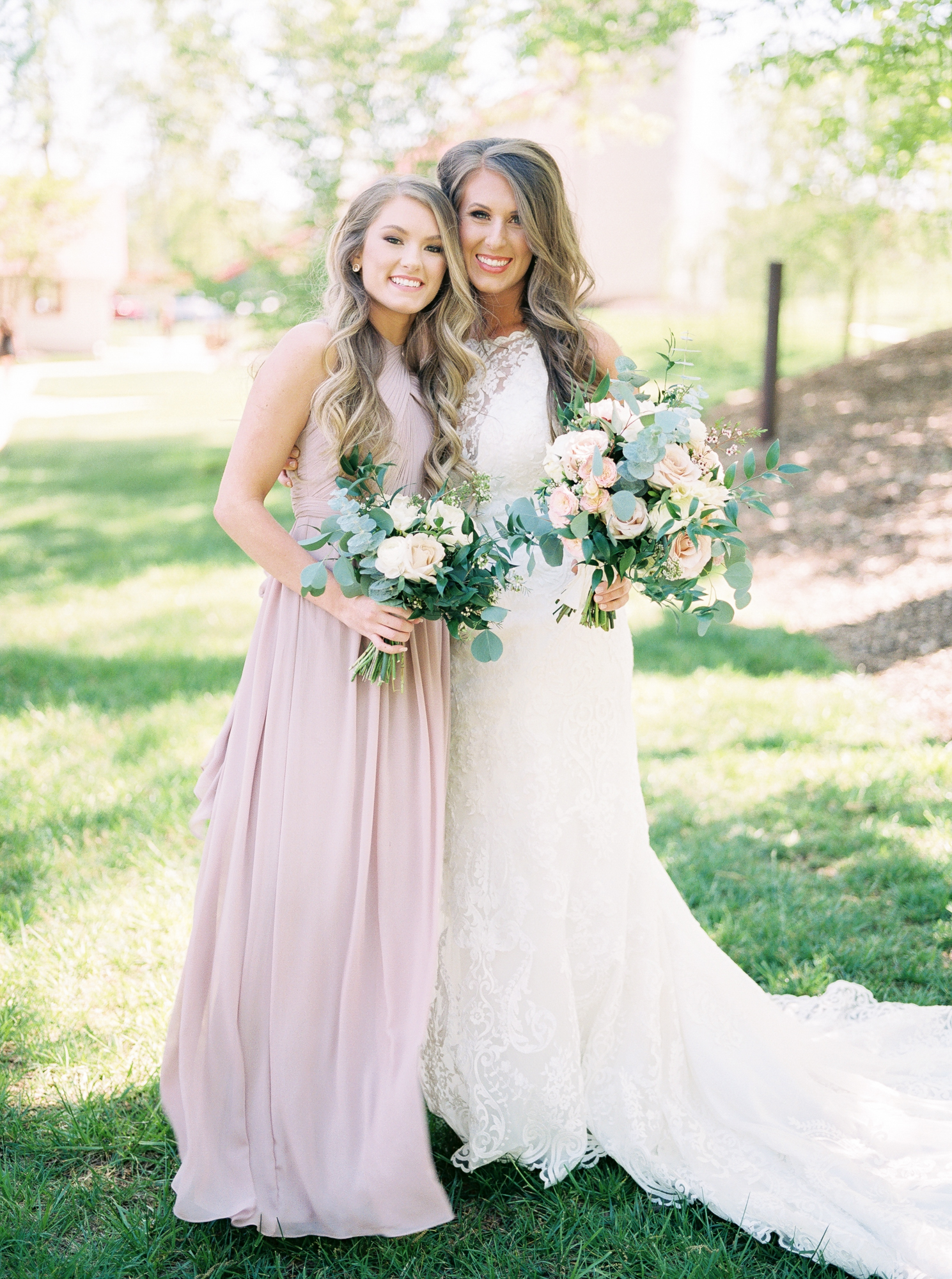 maid of honor with bride