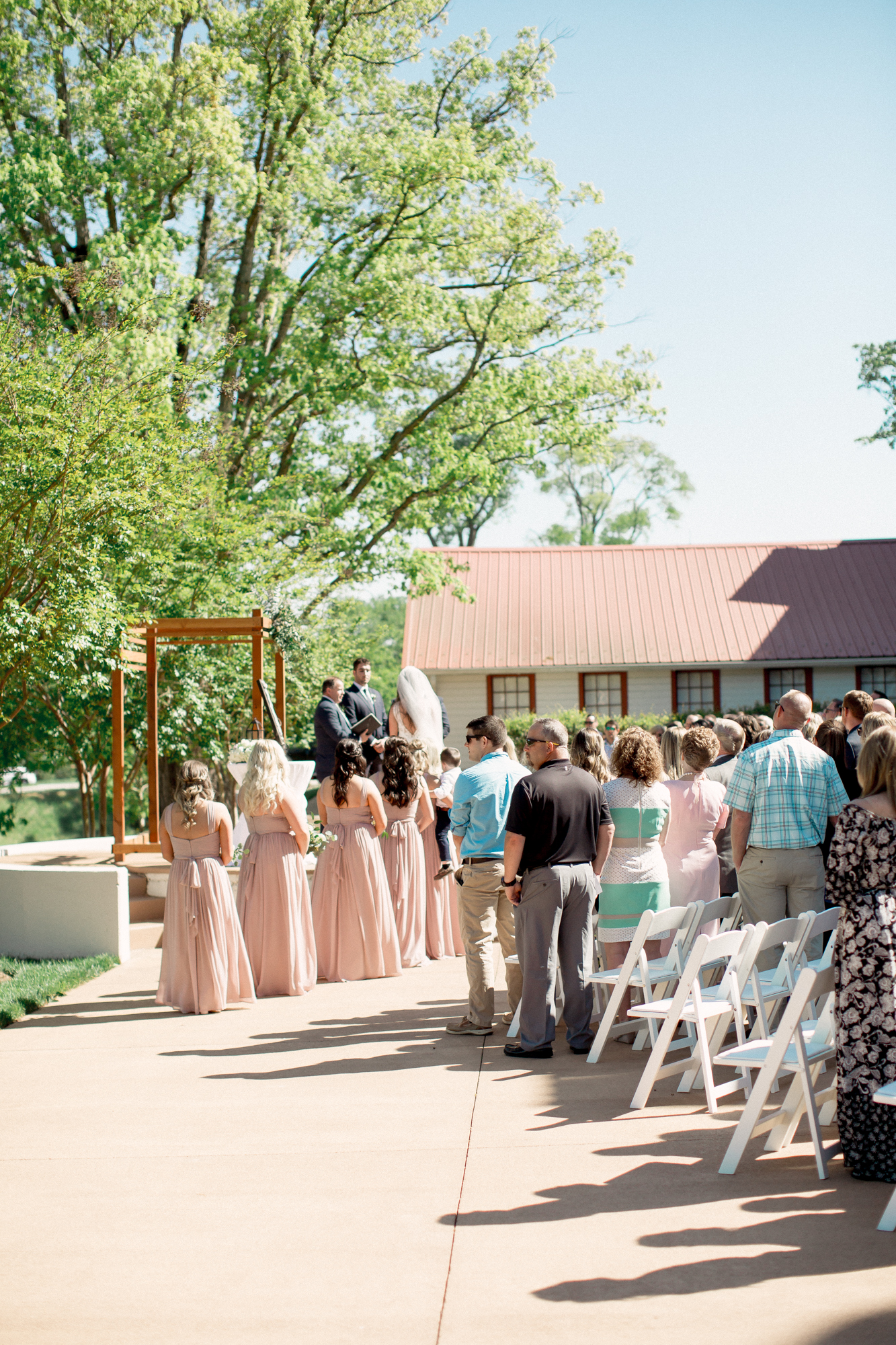 outdoor spring wedding ceremony in nc