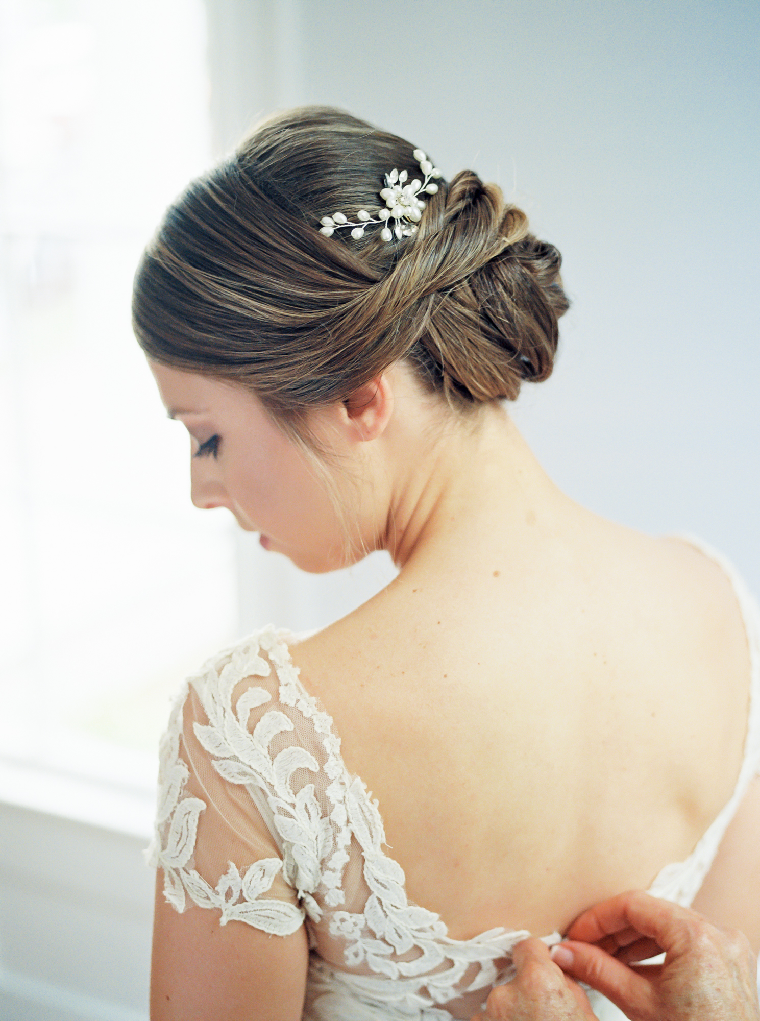 bride hair piece