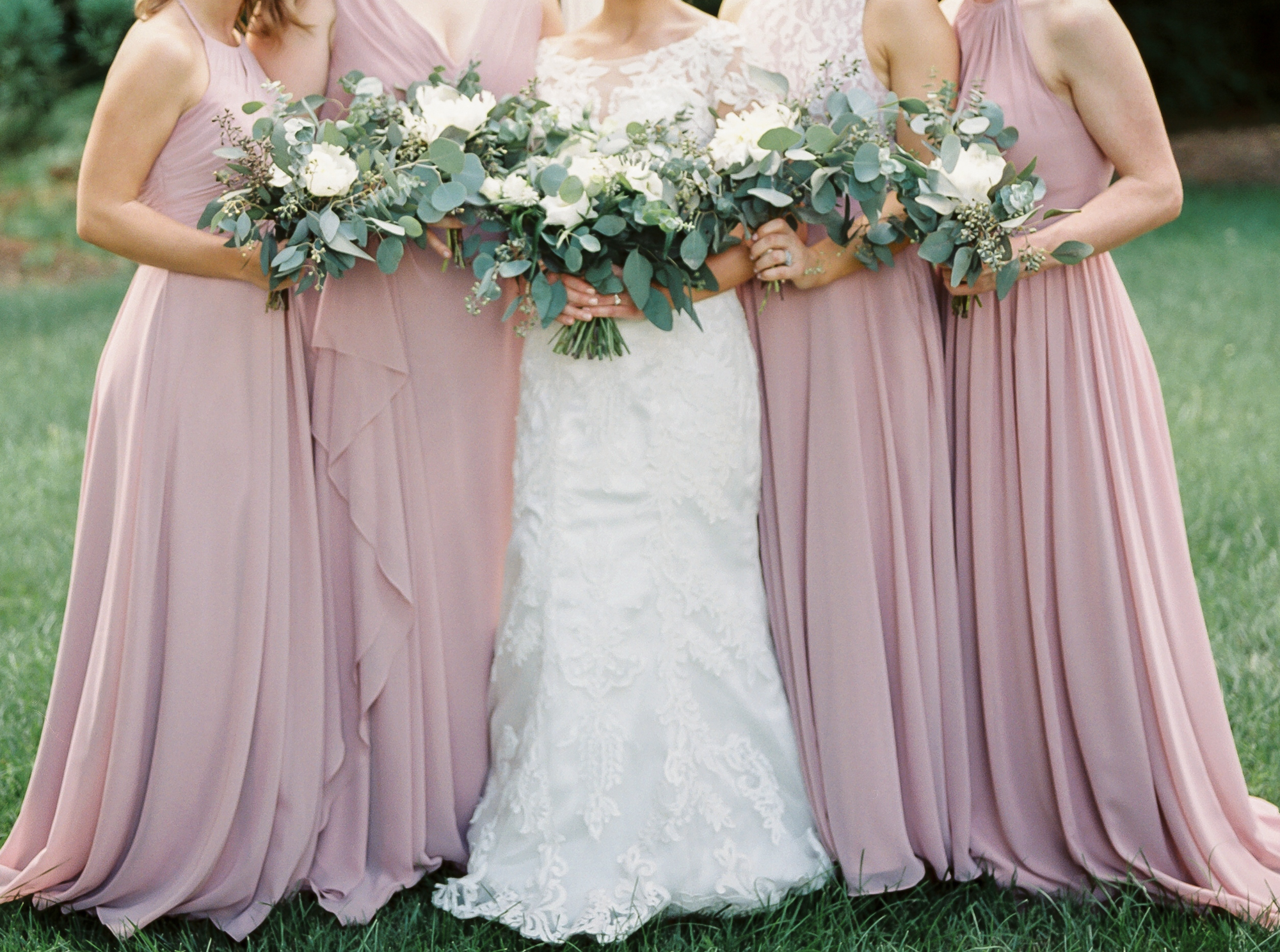 bridesmaid dresses and floral ideas