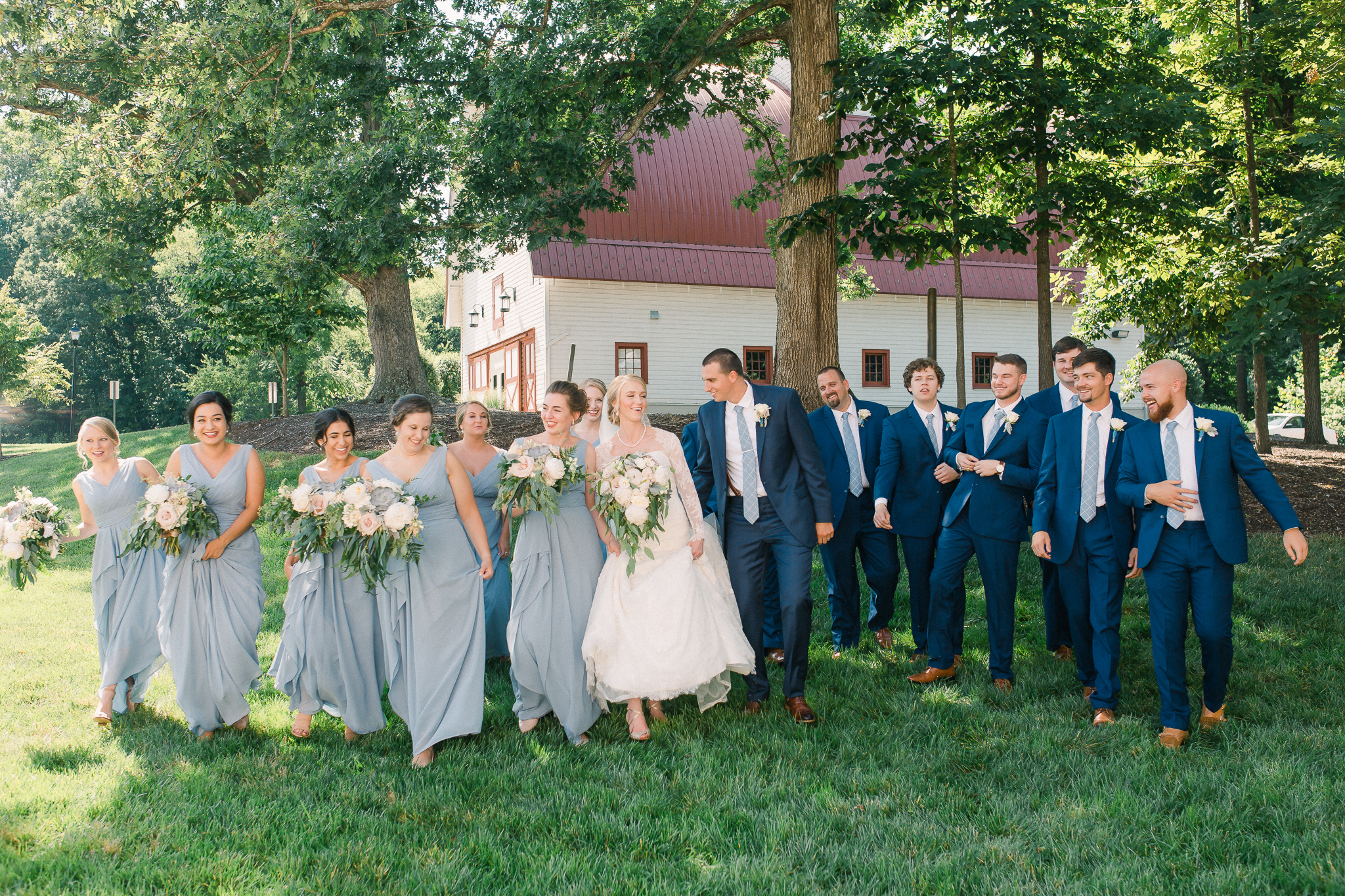 walking bridal party winmock at kinderton